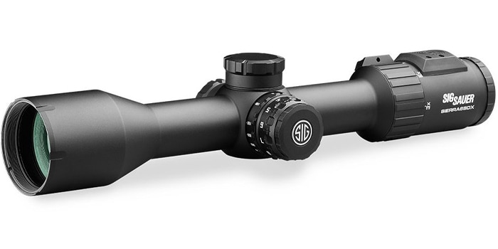 muzzleloader scope and white background