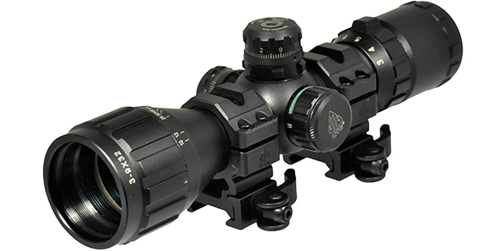 riflescope on a white background
